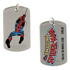 The Amazing Spider-Man - Swinging Double Sided Dog Tag Necklace