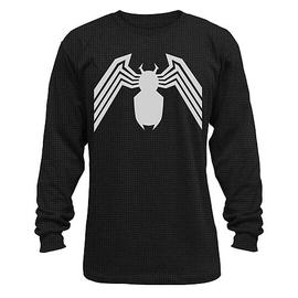 The Amazing Spider-Man - Venom Symbol Black Thermal Long Sleeve T-Shirt