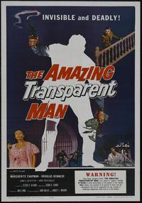 The Amazing Transparent Man - 43 x 62 Movie Poster - Bus Shelter Style A