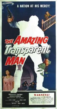 The Amazing Transparent Man - 11 x 17 Movie Poster - Style B