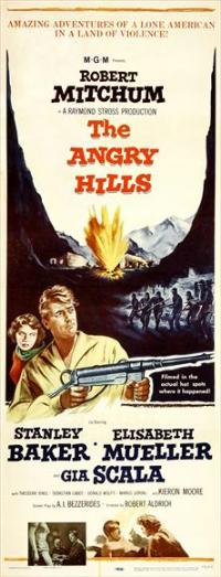 The Angry Hills - 14 x 36 Movie Poster - Insert Style A