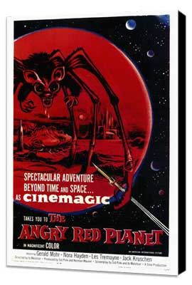 The Angry Red Planet - 27 x 40 Movie Poster - Style A - Museum Wrapped Canvas