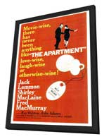 The Apartment - 27 x 40 Movie Poster - Style A - in Deluxe Wood Frame