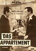 The Apartment - 11 x 17 Movie Poster - German Style D