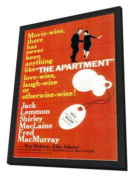 The Apartment - 11 x 17 Movie Poster - Style A - in Deluxe Wood Frame