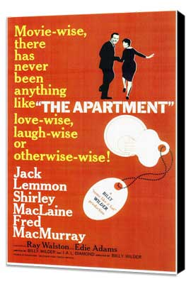 The Apartment - 11 x 17 Movie Poster - Style A - Museum Wrapped Canvas