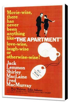 The Apartment - 27 x 40 Movie Poster - Style A - Museum Wrapped Canvas