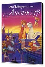 Aristocats, The - 11 x 17 Movie Poster - Style A - Museum Wrapped Canvas