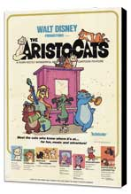 Aristocats, The - 27 x 40 Movie Poster - Style A - Museum Wrapped Canvas