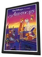 Aristocats, The - 27 x 40 Movie Poster - Style A - in Deluxe Wood Frame