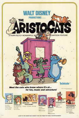 Aristocats, The - 27 x 40 Movie Poster - Style A