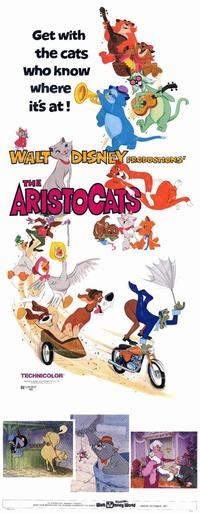 Aristocats, The - 14 x 36 Movie Poster - Insert Style A