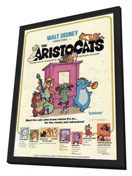 Aristocats, The - 11 x 17 Movie Poster - Style A - in Deluxe Wood Frame