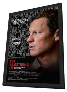 The Armstrong Lie - 11 x 17 Movie Poster - Style A - in Deluxe Wood Frame