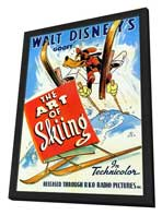 The Art of Skiing - 11 x 17 Movie Poster - Style A - in Deluxe Wood Frame