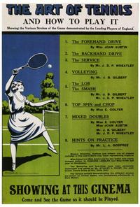 The Art of Tennis and How to Play It - 27 x 40 Movie Poster - Foreign - Style A