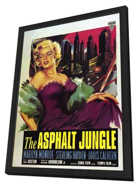 The Asphalt Jungle - 11 x 17 Poster - Foreign - Style A - in Deluxe Wood Frame