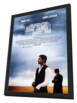 The Assassination of Jesse James by the Coward Robert Ford - 27 x 40 Movie Poster - Style A - in Deluxe Wood Frame