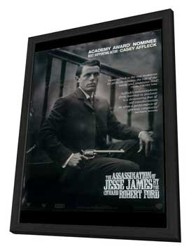 The Assassination of Jesse James by the Coward Robert Ford - 27 x 40 Movie Poster - Style B - in Deluxe Wood Frame