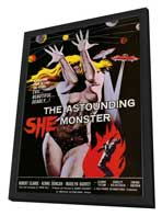The Astounding She-Monster - 11 x 17 Movie Poster - Style A - in Deluxe Wood Frame