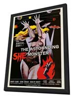 The Astounding She-Monster - 27 x 40 Movie Poster - Style A - in Deluxe Wood Frame