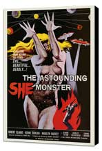 The Astounding She-Monster - 27 x 40 Movie Poster - Style A - Museum Wrapped Canvas