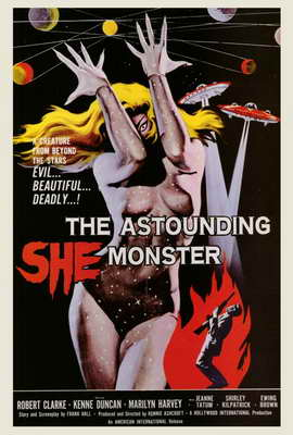 The Astounding She-Monster - 27 x 40 Movie Poster - Style A