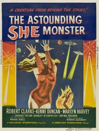 The Astounding She-Monster - 11 x 17 Movie Poster - Style B