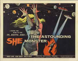 The Astounding She-Monster - 22 x 28 Movie Poster - Half Sheet Style A