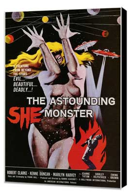 The Astounding She-Monster - 11 x 17 Movie Poster - Style A - Museum Wrapped Canvas