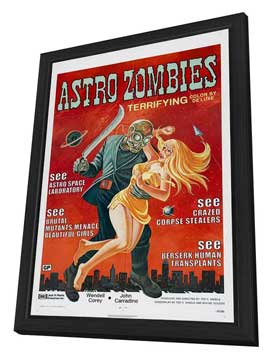 The Astro Zombies - 27 x 40 Movie Poster - Style A - in Deluxe Wood Frame
