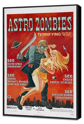 The Astro Zombies - 27 x 40 Movie Poster - Style A - Museum Wrapped Canvas