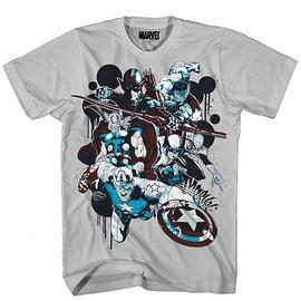 The Avengers - Spot Drip Silver T-Shirt