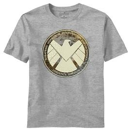 The Avengers - Movie Aged Shield Heather T-Shirt