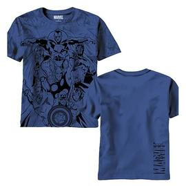 The Avengers - Valiants All Over Print Navy T-Shirt
