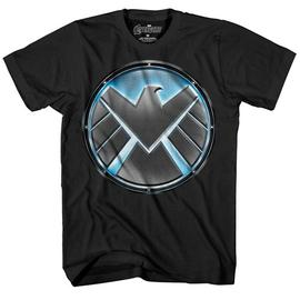 The Avengers - S.H.I.E.L.D. Logo Glow-in-the-Dark Black T-Shirt