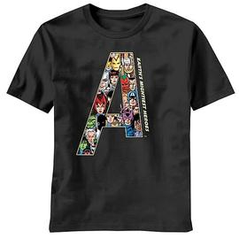 The Avengers - Team A Black T-Shirt