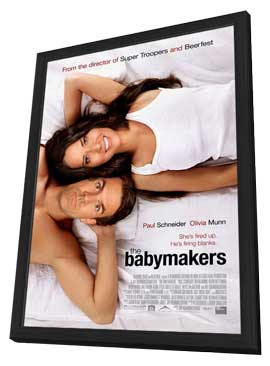 The Babymakers - 11 x 17 Movie Poster - Style A - in Deluxe Wood Frame