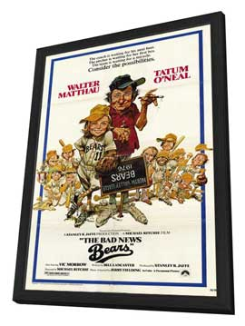 The Bad News Bears - 11 x 17 Movie Poster - Style A - in Deluxe Wood Frame