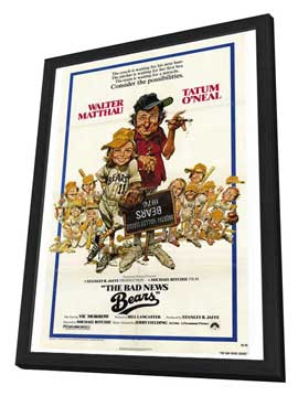 The Bad News Bears - 27 x 40 Movie Poster - Style A - in Deluxe Wood Frame