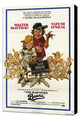 The Bad News Bears - 11 x 17 Movie Poster - Style A - Museum Wrapped Canvas