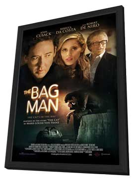The Bag Man - 27 x 40 Movie Poster - Style A - in Deluxe Wood Frame