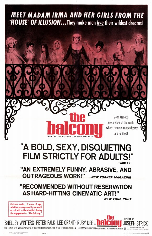 the balcony movie posters from movie poster shop