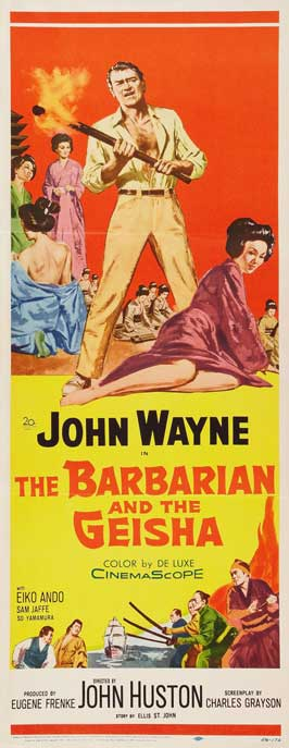 The Barbarian and the Geisha - 14 x 36 Movie Poster - Insert Style E