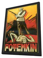 The Battleship Potemkin - 11 x 17 Movie Poster - Danish Style A - in Deluxe Wood Frame