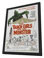 The Beach Girls and the Monster - 27 x 40 Movie Poster - Style A - in Deluxe Wood Frame