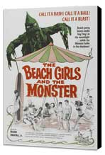 The Beach Girls and the Monster - 27 x 40 Movie Poster - Style A - Museum Wrapped Canvas