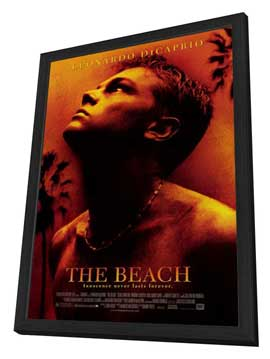 The Beach - 27 x 40 Movie Poster - Style A - in Deluxe Wood Frame