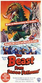 The Beast from 20,000 Fathoms - 13 x 30 Movie Poster - Australian Style B