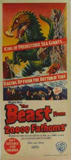The Beast from 20,000 Fathoms - 13 x 30 Movie Poster - Australian Style A